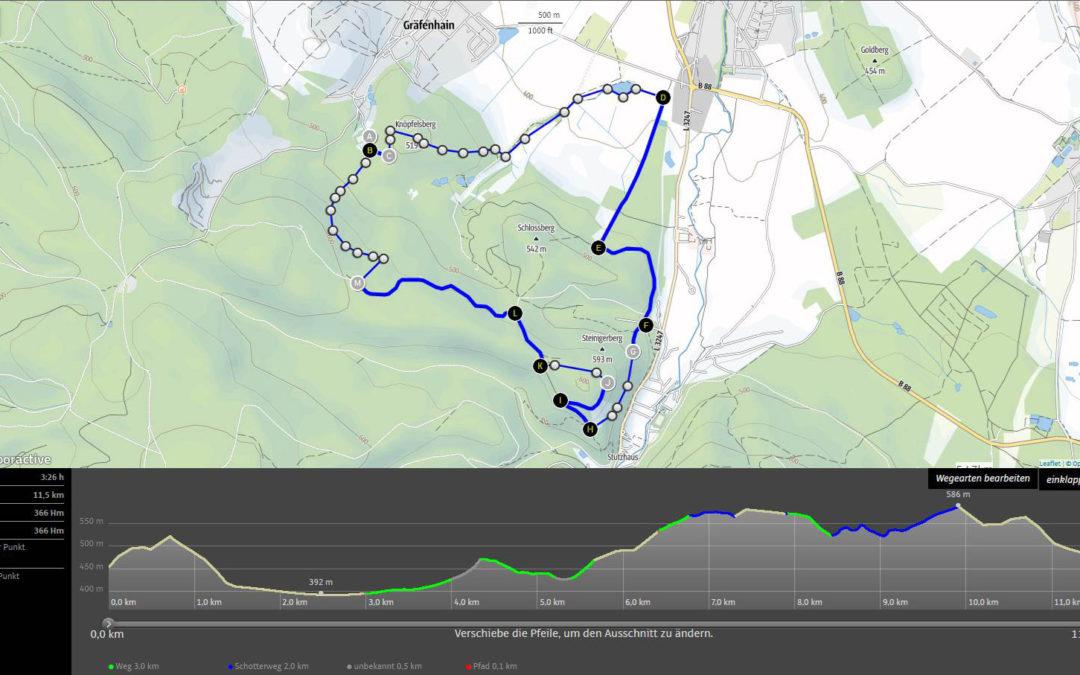 Strecken für den Steigerlauf am 29. Juni 2019